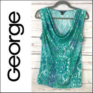 George Scoop Neck Sleeveless Stretch Shirt